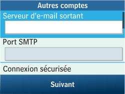 Samsung C3500 Chat 350 - E-mail - Configuration manuelle - Étape 14