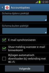 Samsung S6810P Galaxy Fame - E-mail - e-mail instellen: IMAP (aanbevolen) - Stap 19