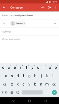 Nokia 8 Sirocco - E-mail - Sending emails - Step 7