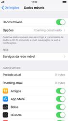 Apple iPhone 6s - iOS 11 - Internet no telemóvel - Como ativar os dados móveis -  5