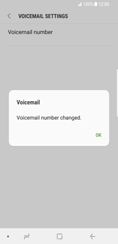 Samsung Galaxy S8 - Android Oreo - Voicemail - Manual configuration - Step 9