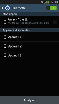 Samsung Galaxy Note 3 - Internet et connexion - Connexion avec un équipement multimédia via Bluetooth - Étape 7