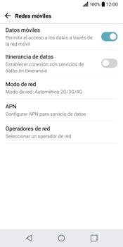 LG Q6 - Red - Seleccionar el tipo de red - Paso 5