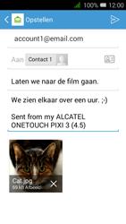 Alcatel OneTouch PIXI 3 (4.5) 3G (OT-4027X) - E-mail - Hoe te versturen - Stap 17