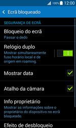Samsung Galaxy Trend 2 Lite - Segurança - Como ativar o código de bloqueio do ecrã -  5