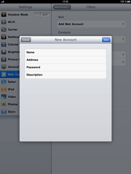 Apple iPad - E-mail - Manual configuration - Step 6