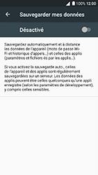 Alcatel Shine Lite - Device maintenance - Back up - Étape 8
