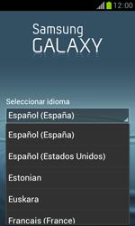 Samsung S7560 Galaxy Trend - Primeros pasos - Activar el equipo - Paso 3