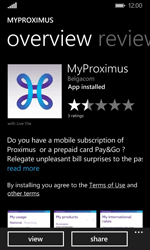 Nokia Lumia 635 - Applications - MyProximus - Step 9