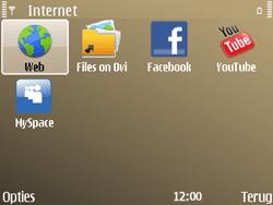 Nokia E72 - Internet - hoe te internetten - Stap 3