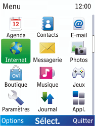 Nokia X2-00 - Internet - Navigation sur Internet - Étape 2