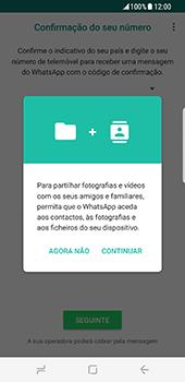 Samsung Galaxy S8 - Aplicações - Como configurar o WhatsApp -  6