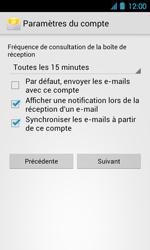 Acer Liquid Glow E330 - E-mail - Configuration manuelle - Étape 13