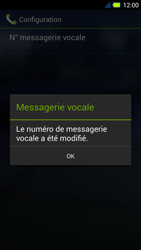 Acer Liquid E3 - Messagerie vocale - Configuration manuelle - Étape 10