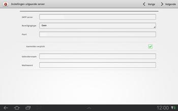 Samsung P7500 Galaxy Tab 10-1 - E-mail - e-mail instellen: POP3 - Stap 11