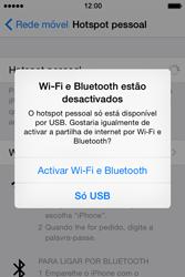 Apple iPhone 4S iOS 8 - Internet no telemóvel - Como partilhar os dados móveis -  6