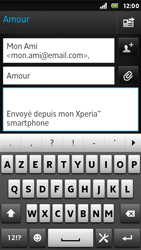 Sony ST25i Xperia U - E-mail - envoyer un e-mail - Étape 7
