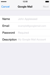 Apple iPhone 4 S iOS 7 - E-mail - Manual configuration (gmail) - Step 6