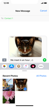 Apple iPhone XS - MMS - Sending a picture message - Step 12