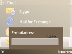 Nokia E72 - E-mail - Handmatig instellen - Stap 9