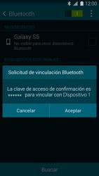 Samsung G900F Galaxy S5 - Bluetooth - Conectar dispositivos a través de Bluetooth - Paso 7