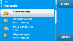 Nokia N97 - MMS - envoi d'images - Étape 3