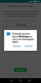 Huawei P Smart - Aplicações - Como configurar o WhatsApp -  12