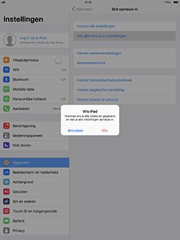 Apple iPad Pro 10.5 inch met iOS 11 (Model A1709) - Instellingen aanpassen - Fabrieksinstellingen terugzetten - Stap 5