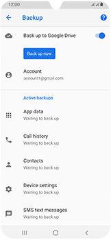 Samsung Galaxy A40 - Data - Create a backup with your account - Step 11