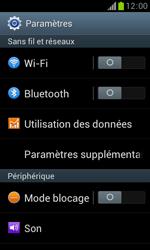 Samsung S7560 Galaxy Trend - Internet - Activer ou désactiver - Étape 4