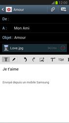 Samsung N7100 Galaxy Note II - E-mail - Envoi d