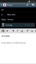 Samsung Galaxy Note 2 - E-mails - Envoyer un e-mail - Étape 15