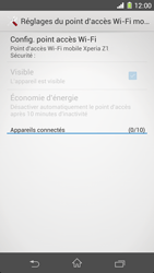 Sony Xpéria Z1 - Internet et connexion - Partager votre connexion en Wi-Fi - Étape 11