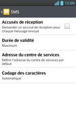LG E460 Optimus L5 II - SMS - Configuration manuelle - Étape 7