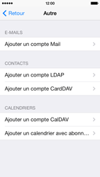 Apple iPhone 5c - E-mail - Configuration manuelle - Étape 6