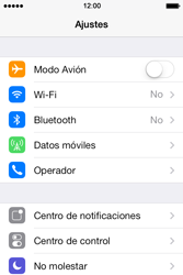 Apple iPhone 4S iOS 7 - Red - Seleccionar el tipo de red - Paso 3