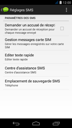 Acer Liquid Jade S - SMS - Configuration manuelle - Étape 7
