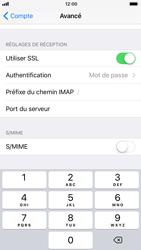 Apple iPhone 6 - iOS 11 - E-mail - Configuration manuelle - Étape 25