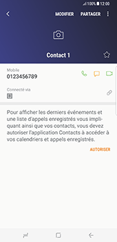 Samsung Galaxy S8+ - Contact, Appels, SMS/MMS - Ajouter un contact - Étape 9
