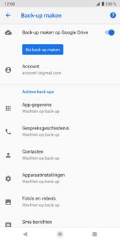 Sony Xperia XZ3 - Data - maak een back-up met je account - Stap 11