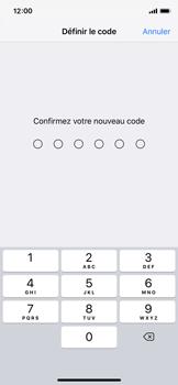 Apple iPhone XS - iOS 12 - Sécuriser votre mobile - Activer le code de verrouillage - Étape 7