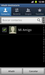 Samsung I8160 Galaxy Ace II - Mensajería - Escribir y enviar un mensaje multimedia - Paso 6