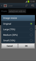Samsung S7390 Galaxy Trend Lite - E-mail - Sending emails - Step 14