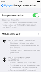 Apple iPhone 5 (iOS 8) - Internet et connexion - Partager votre connexion en Wi-Fi - Étape 7
