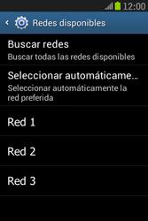 Samsung S6310 Galaxy Young - Red - Seleccionar una red - Paso 8