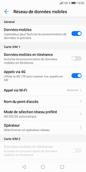 Huawei P Smart - Internet et connexion - Activer la 4G - Étape 8