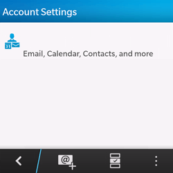 BlackBerry Q10 - E-mail - Manual configuration - Step 5