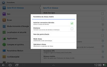 Samsung P7500 Galaxy Tab 10-1 - Réseau - utilisation à l'étranger - Étape 8