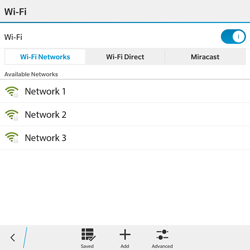 BlackBerry Passport - WiFi and Bluetooth - Manual configuration - Step 7