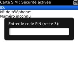 BlackBerry 8520 - Sécuriser votre mobile - Personnaliser le code PIN de votre carte SIM - Étape 8